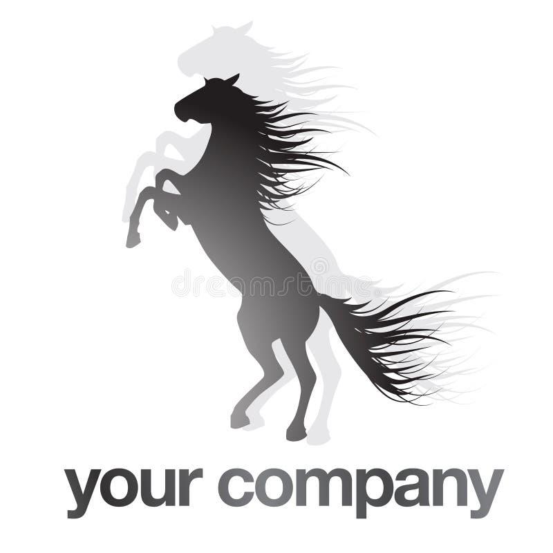 черный логос лошади