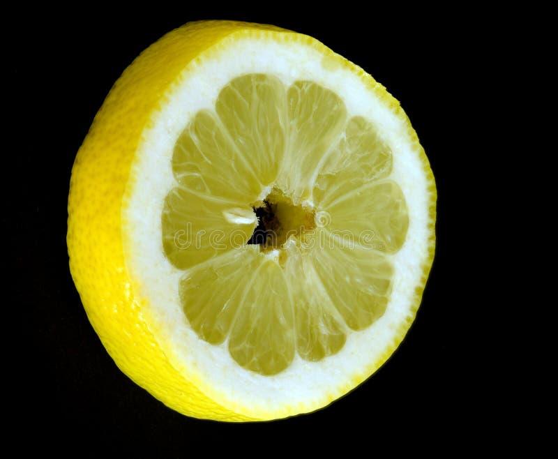черный ломтик лимона стоковое изображение
