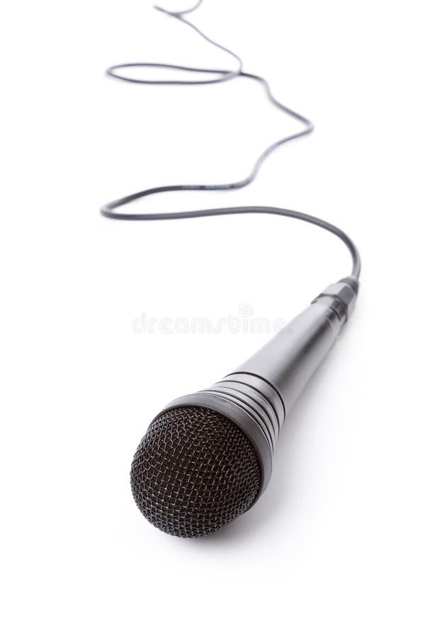 черный микрофон стоковое изображение rf