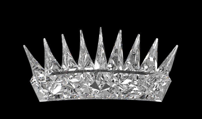 черный монарх gemstone кроны сверх иллюстрация вектора