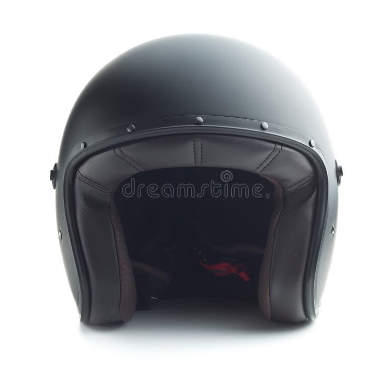 черный мотоцикл шлема стоковая фотография