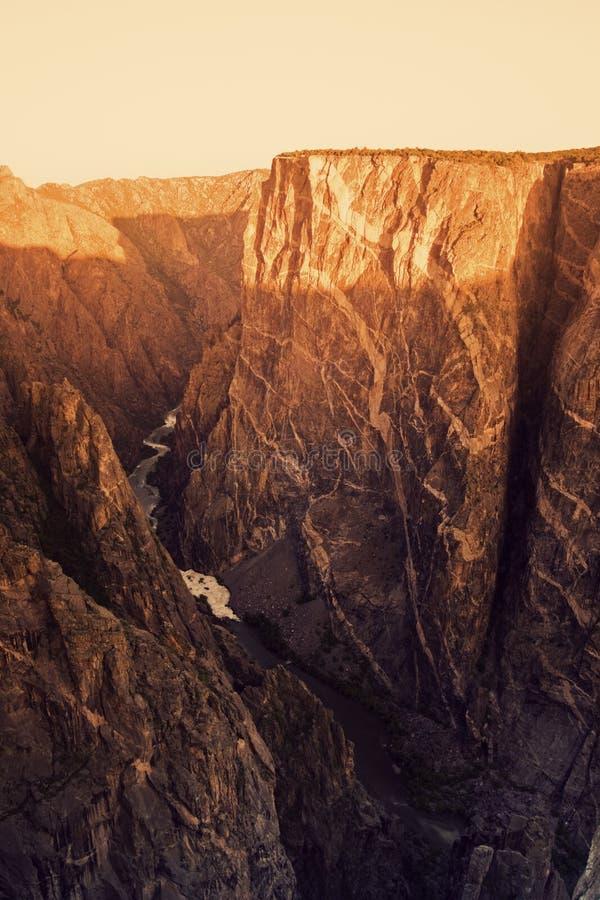 черный национальный парк gunnison каньона стоковая фотография