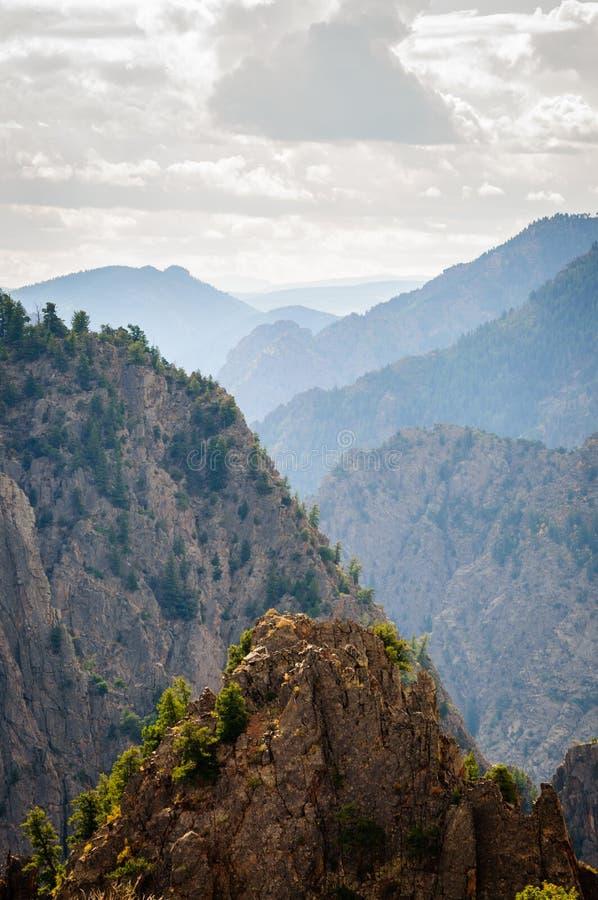 черный национальный парк gunnison каньона стоковое фото rf