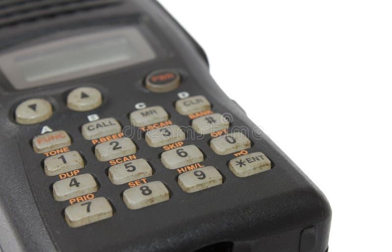 Черный номеронабиратель любительского радио стоковое изображение rf