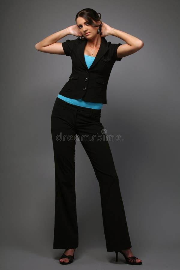 черный носить брюнет стоковое изображение
