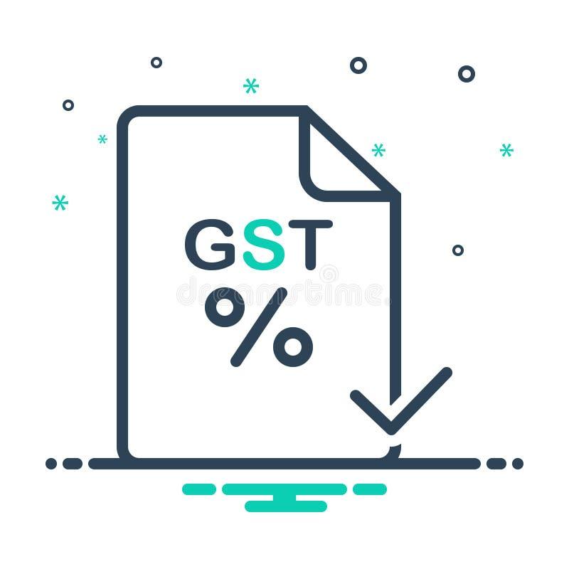 Черный оплаченный значок смешивания для Gst, и проверки иллюстрация штока
