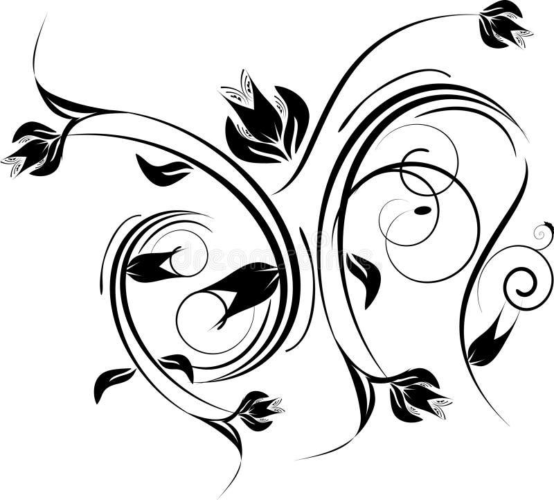 черный орнамент конструкции i иллюстрация штока