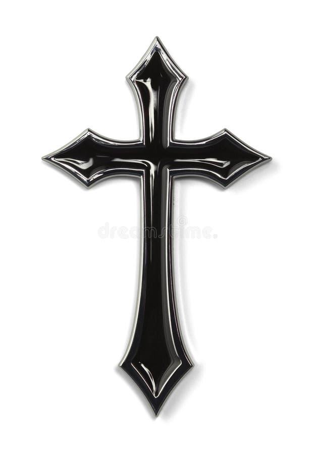 Черный остроконечный крест стоковые фотографии rf