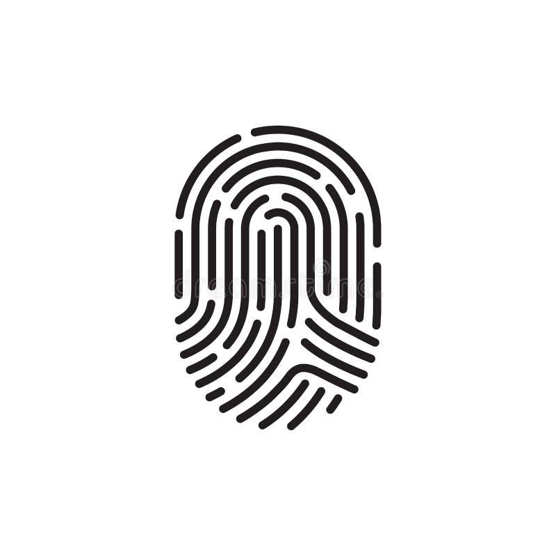 Черный отпечаток пальцев иллюстрация штока