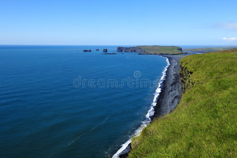 черный песок Исландии свободного полета вулканический стоковые изображения