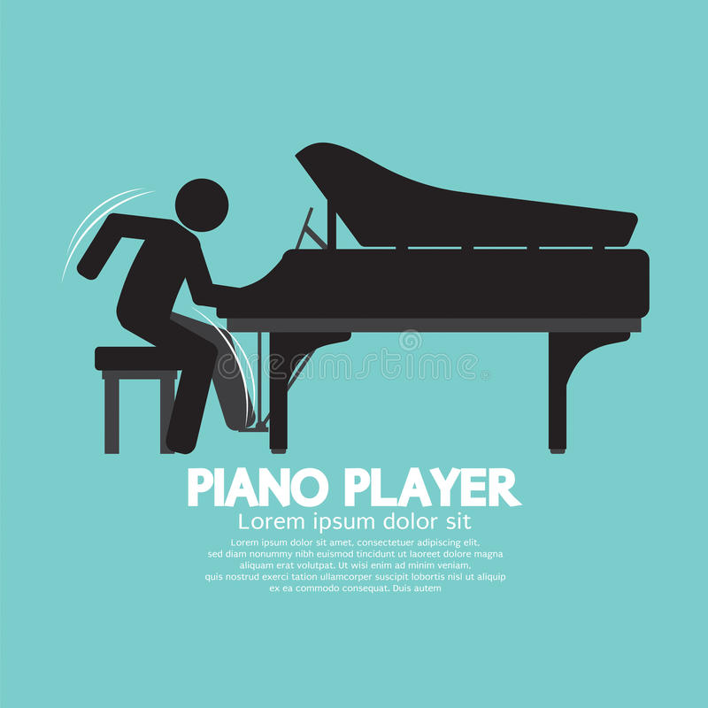 Черный пианист символа иллюстрация штока