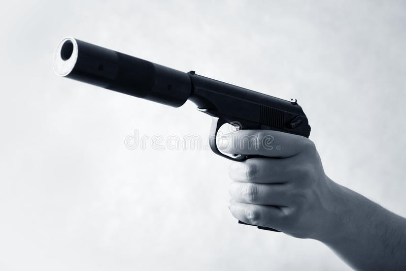 черный пистолет стоковое изображение rf