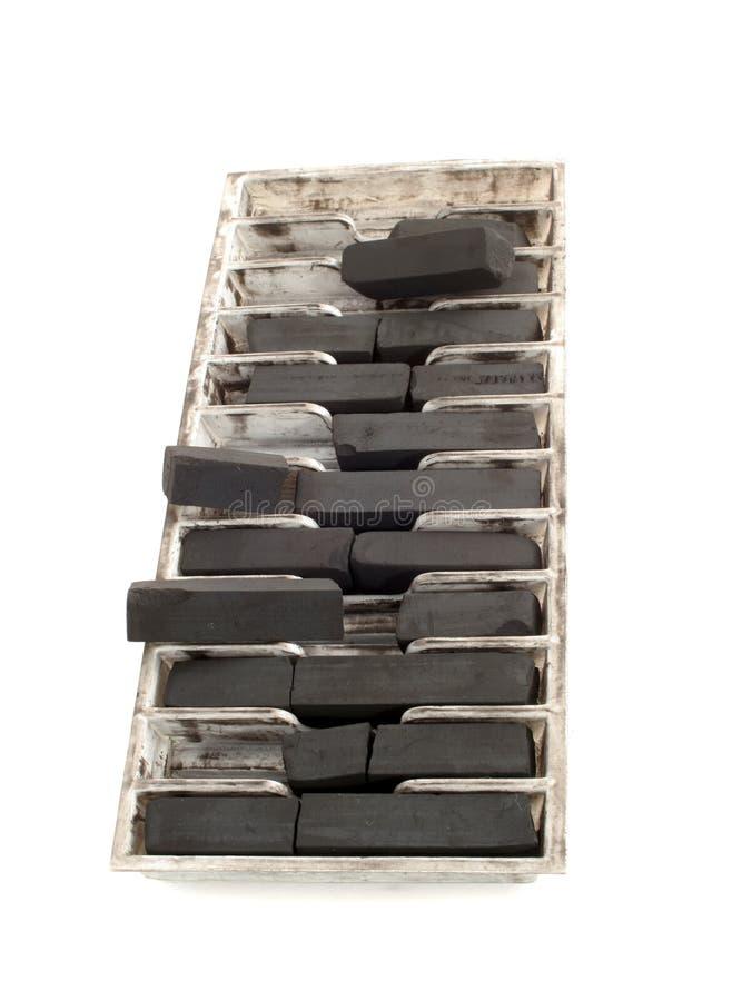 черный поднос чертежа угля стоковые фотографии rf