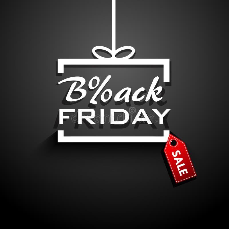 Черный подарок продажи пятницы бесплатная иллюстрация