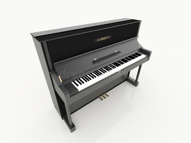 Черный представленный рояль иллюстрация штока