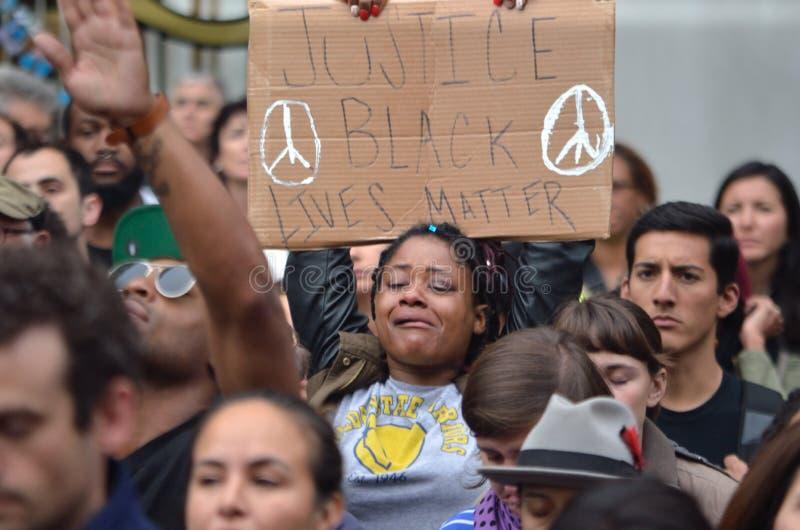 Черный протест дела жизней стоковое изображение rf