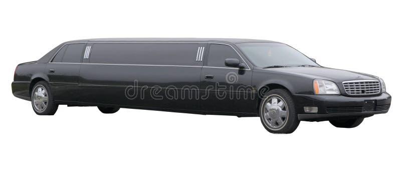 черный протягиванный лимузин стоковые фотографии rf