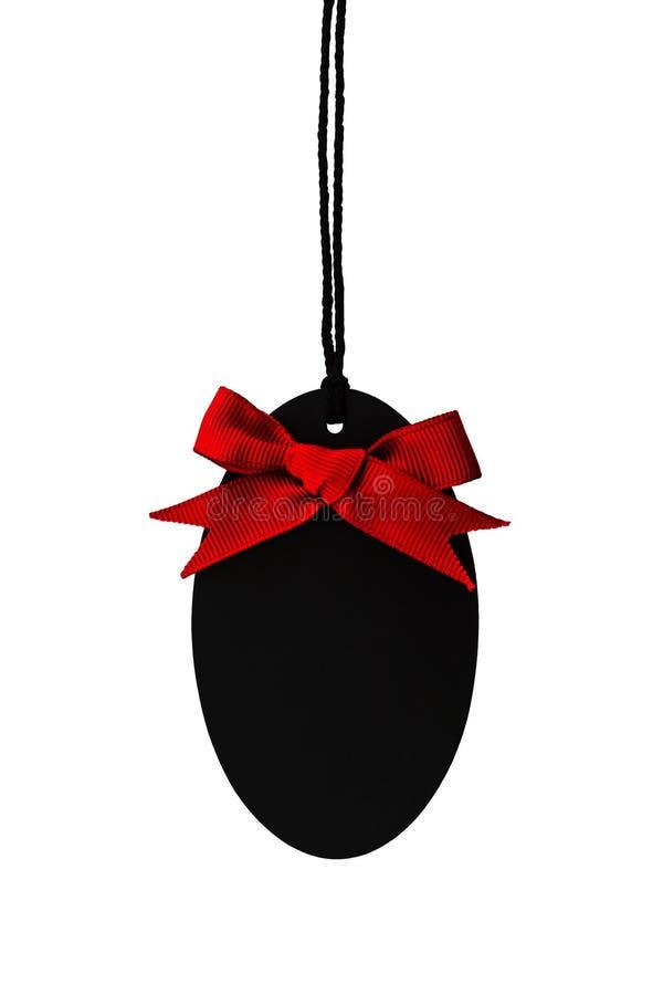 Download Черный пустой ярлык цены с красным смычком ленты Стоковое Фото - изображение насчитывающей макрос, ярлык: 40591500
