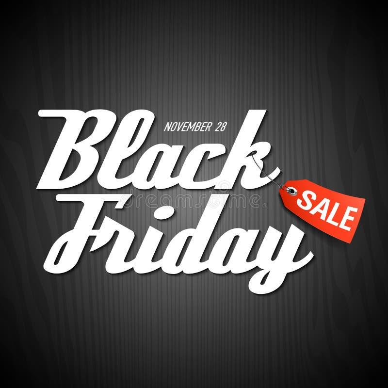 Черный плакат продажи пятницы иллюстрация вектора