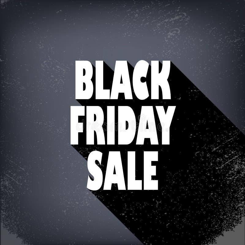 Черный плакат продаж пятницы в винтажном стиле с бесплатная иллюстрация