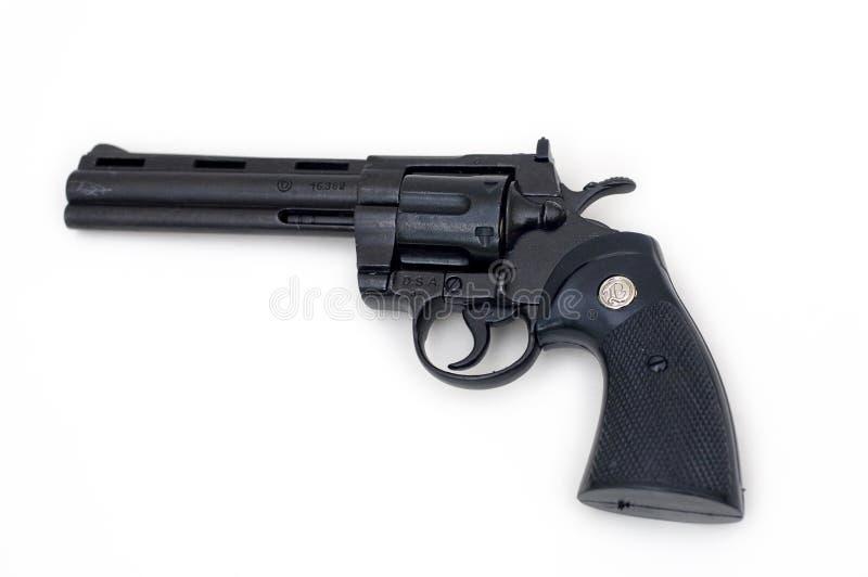черный револьвер пистолета стоковое изображение