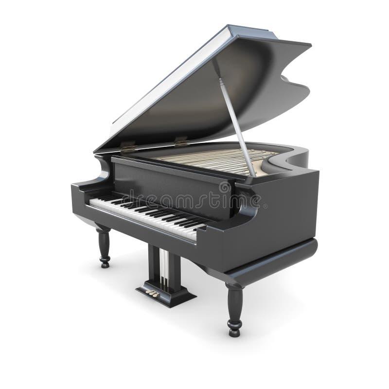 черный рояль бесплатная иллюстрация