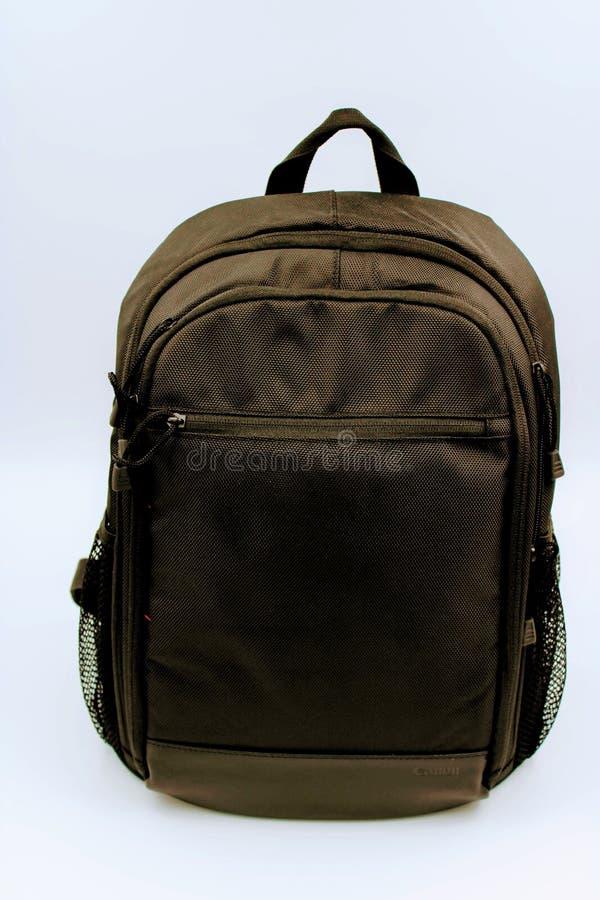 Черный рюкзак перемещения стоковая фотография