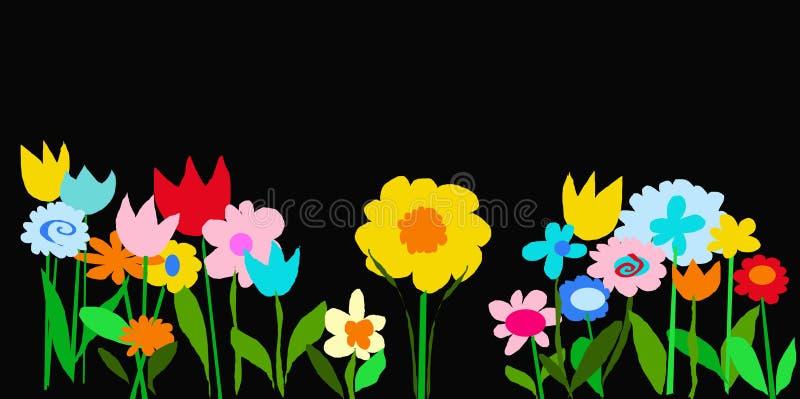 черный сад цвета иллюстрация вектора