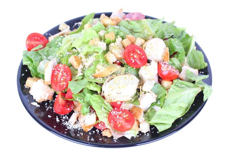 черный салат плиты цезаря стоковое фото