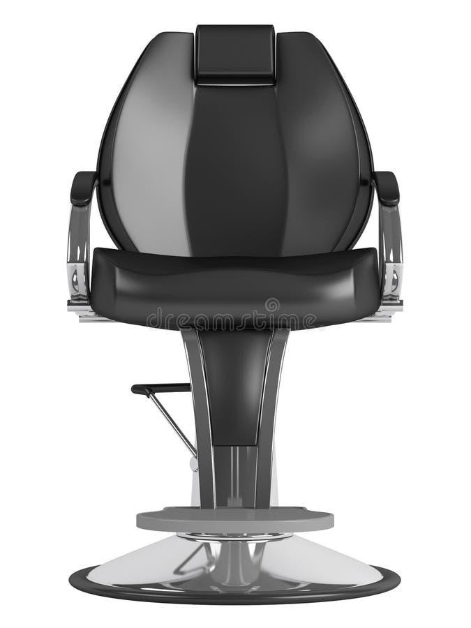 черный салон hairdressing стула иллюстрация штока