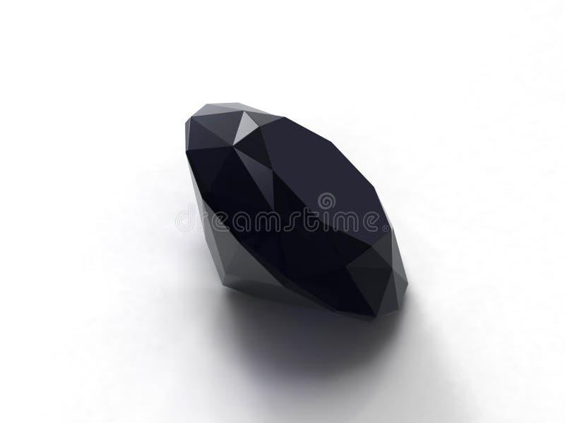 черный сапфир gemstone иллюстрация штока