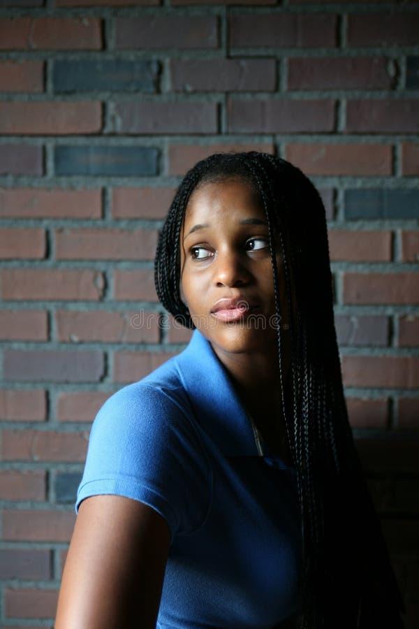 черный светлый естественный портрет предназначенный для подростков стоковая фотография rf