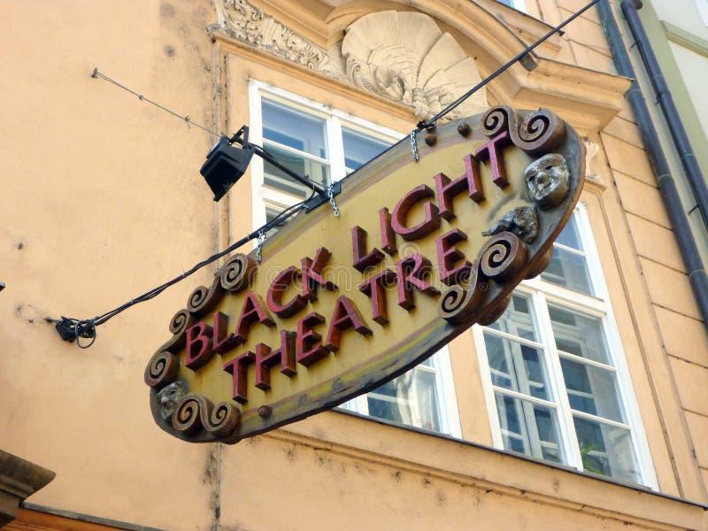 Черный светлый театр, Прага, чехия стоковое изображение rf