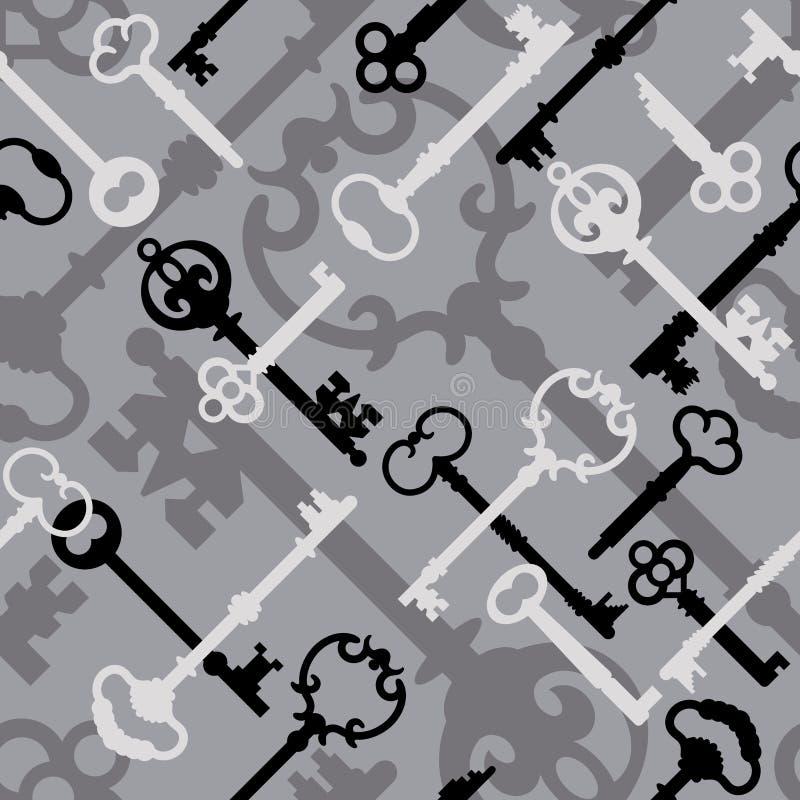 черный серый скелет ключевой картины бесплатная иллюстрация