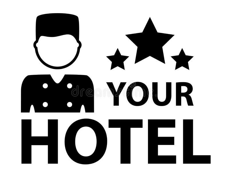 Черный символ гостиницы иллюстрация вектора