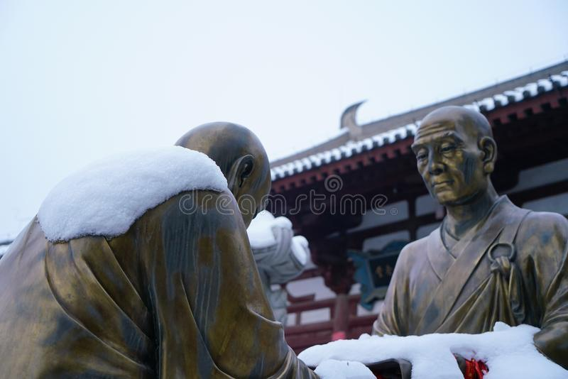 Черный/синь/` виска XI дракона Qinglong Китай стоковые фотографии rf