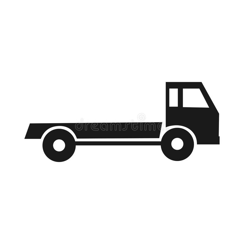 Черный силуэт тележки Помощь дороги иллюстрация штока