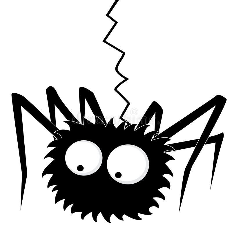 черный спайдер иллюстрация вектора