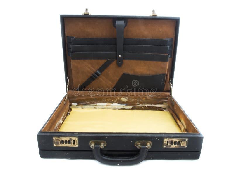 черный старый чемодан стоковое фото