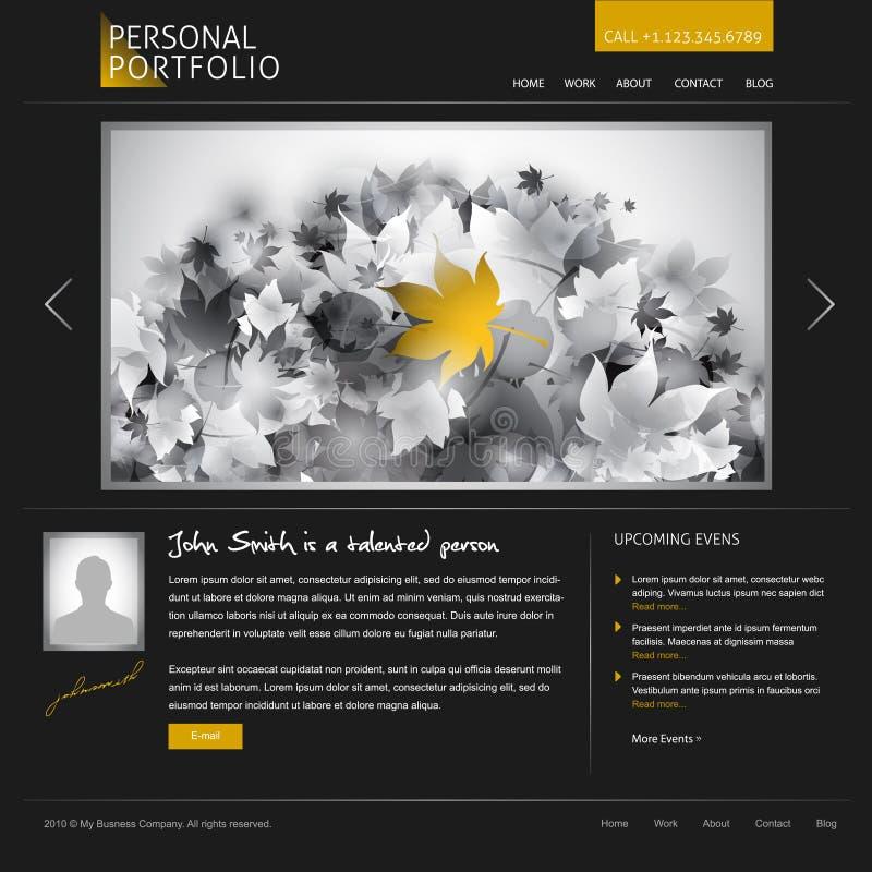 черный стильный вебсайт шаблона иллюстрация штока
