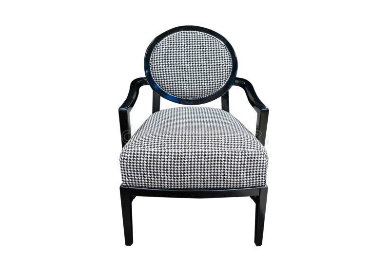 черный стул изолировал самомоднейшее стоковое изображение