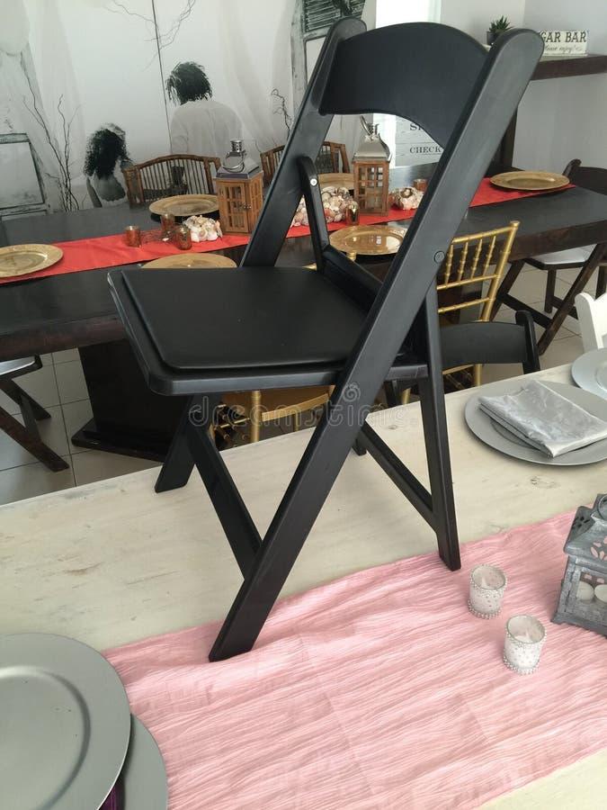 черный стул стоковое фото