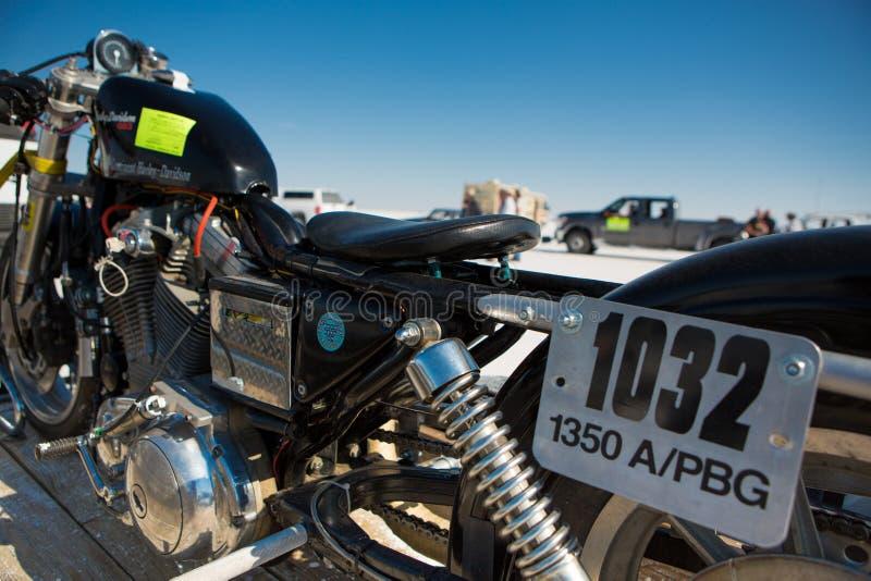 Черный супер велосипед во время мира скорости 2012. стоковое фото rf