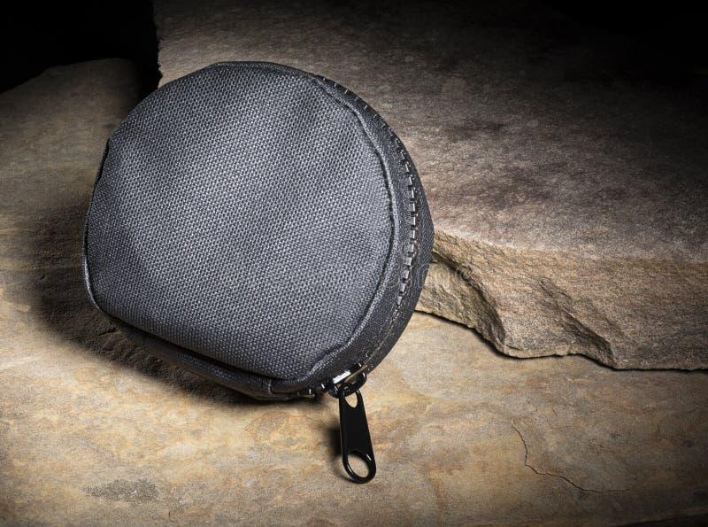 Черный тактический мешок стоковое изображение