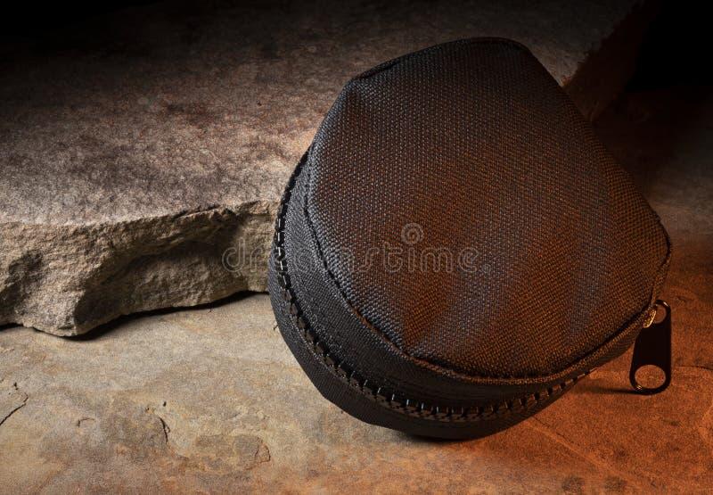 Черный тактический мешок стоковая фотография