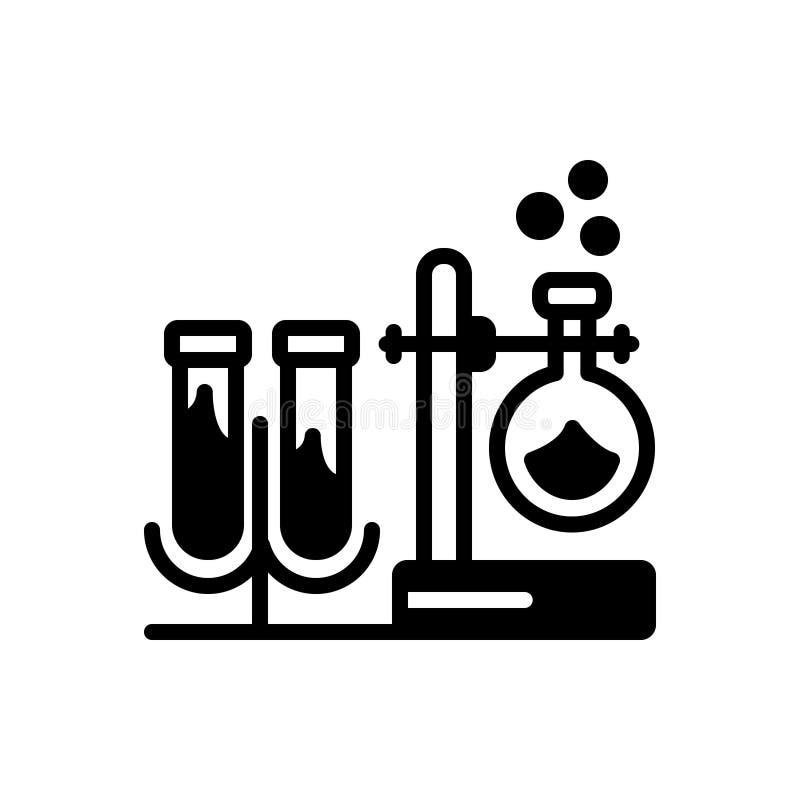 Черный твердый значок для оборудования, прибора и аппаратуры иллюстрация штока