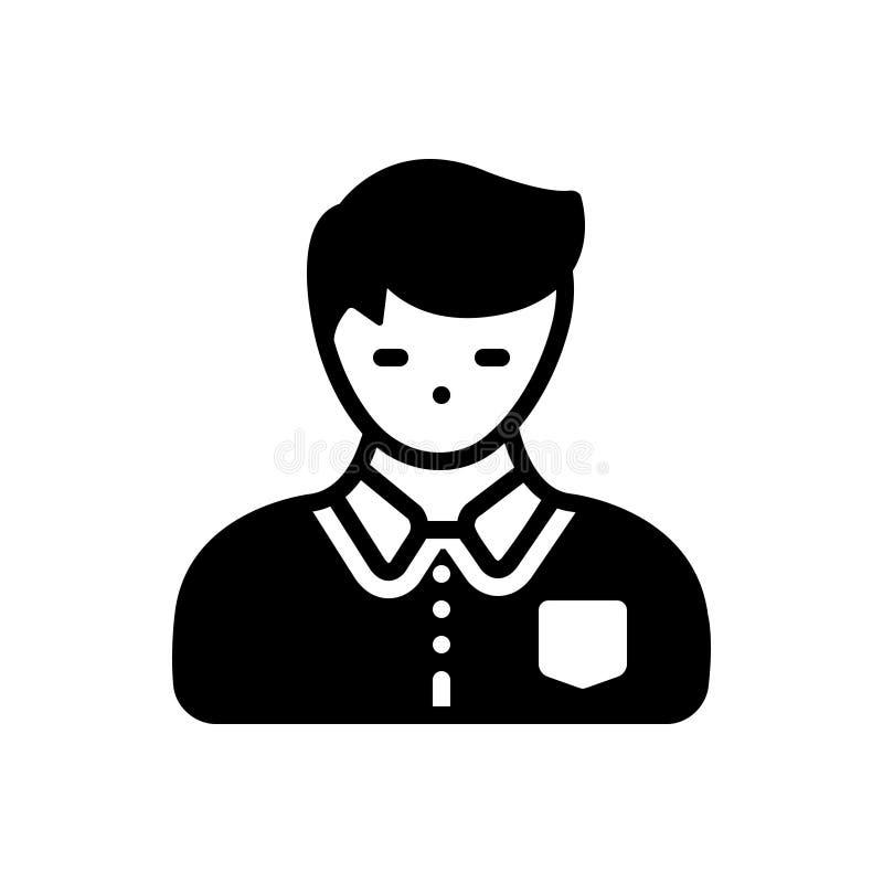 Черный твердый значок для отрочества, подростка и stripling иллюстрация вектора