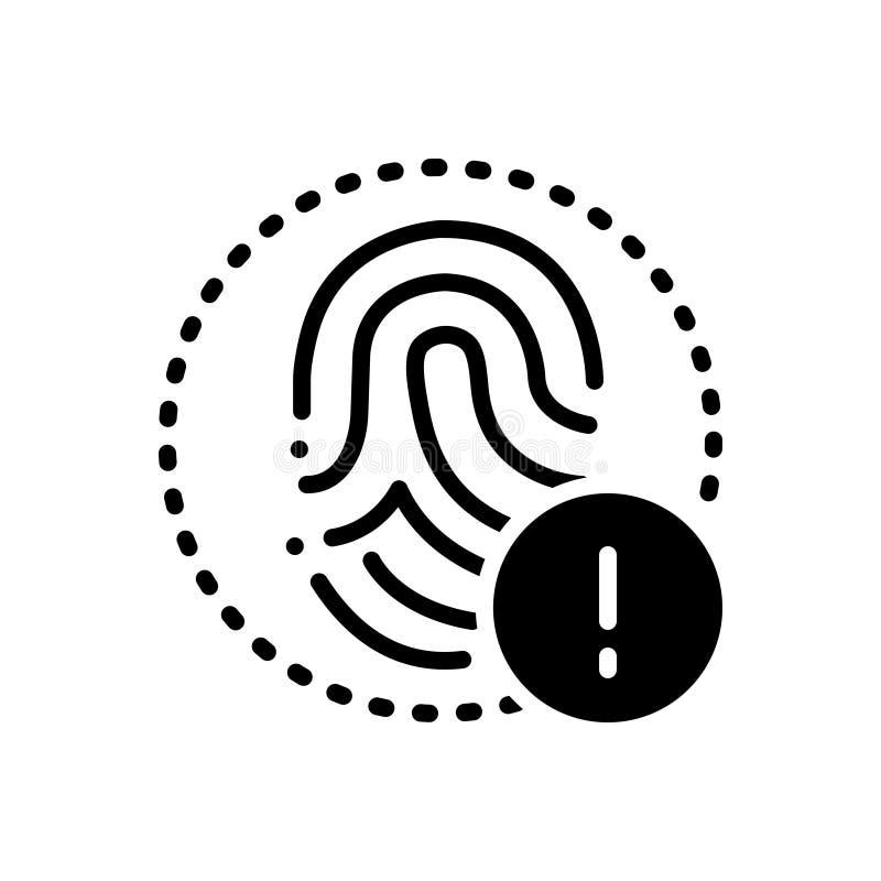 Черный твердый значок для сигнала тревоги, тревоги и предупреждение иллюстрация штока