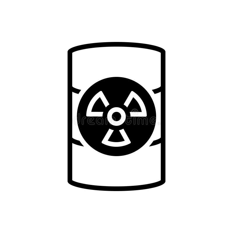 Черный твердый значок для токсичных отходов, опасный и опасный иллюстрация штока