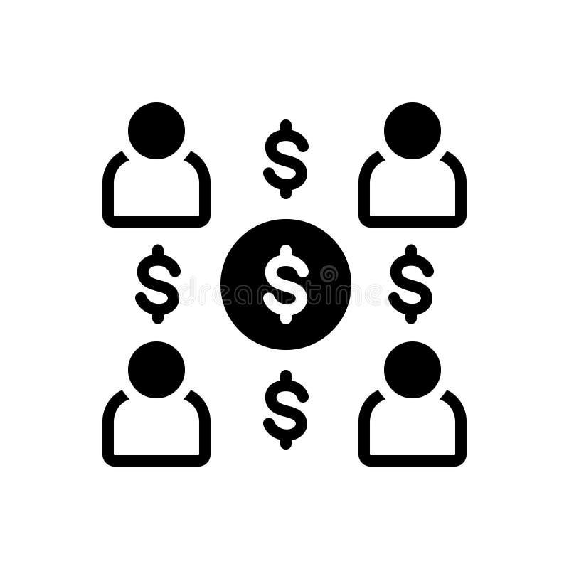 Черный твердый значок для цен, расходов и зарплаты работника бесплатная иллюстрация